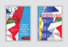 Copra il manifesto della rivista dell'aletta di filatoio dell'opuscolo nella dimensione A4 Fotografie Stock Libere da Diritti