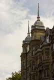 Coprendo vicino su di un monumento storico in via di Oxford fotografia stock