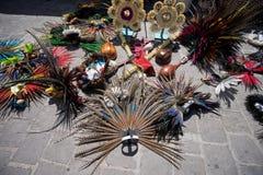 Copricapi indiani nel Messico Fotografia Stock Libera da Diritti