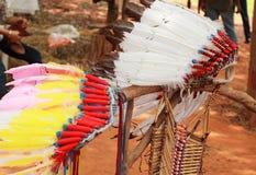Copricapo del capo indiano dell'nativo americano Fotografia Stock