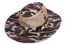 Copricapo del cappello del dicer del chapeau della protezione del camuffamento Fotografie Stock Libere da Diritti
