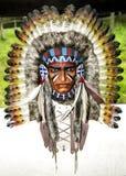 Copricapo del nativo americano fotografia stock