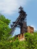 Copricapo della miniera del minerale di ferro Fotografie Stock