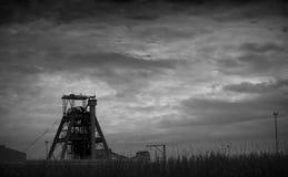 Copricapo della miniera di estrazione mineraria Immagine Stock