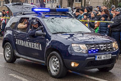 Cops from gendarmerie simulating a mission Royalty Free Stock Photography