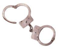 Cops handcuffs closeup Stock Image