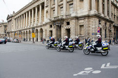 Cops patrolling editorial Stock Image