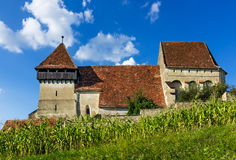 Copsa Mare fortified church in Transylvania, Romania Royalty Free Stock Photo