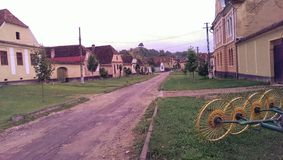 Copsa sto, saxonby i Transylvania Arkivbild