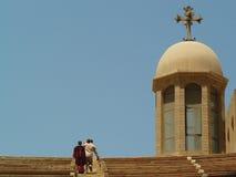 Copt christendom in Egypte royalty-vrije stock foto