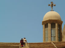Copt kristendomen i Egypten royaltyfri foto