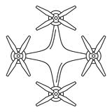 Copter drone icon, outline style vector illustration
