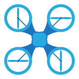 Copter icon. Blue radio copter icon. vector illustration. close-up Stock Photography