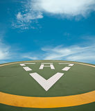 Copter parking. With blue sky and cloud Stock Images