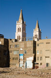 Coptic Cathedral and demolition, Luxor Stock Image
