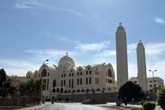 Coptic church in Aswan Egypt. The Coptic church in Aswan Egypt Royalty Free Stock Images