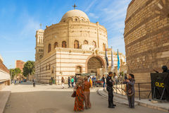 Coptic church in Cairo, Egypt. Hanging Coptic Church (El Muallaqa)in old Cairo, Egypt Royalty Free Stock Images