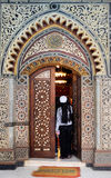 Coptic Church El Muallaqa (Cairo - Egypt). The door of the coptic kanging church El Muallaqa in Cairo (Egypt Stock Photo