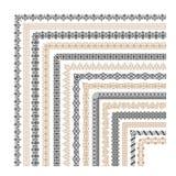 Coptic ornament frame border vector corners. Border corner frame decorative illustration Royalty Free Illustration