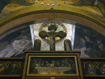 Coptic Orthodox Church. All saints who live in Heavens (El Samaaeyeen Royalty Free Stock Photo