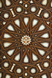 Coptic pattern. The egyptian coptic pattern made of bone and wood Stock Photo