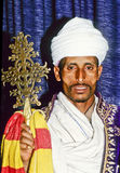 Coptic priest in Ethiopia in his Royalty Free Stock Photography