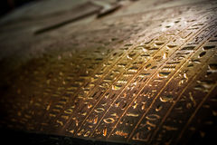 Coptic writings on a coffen of Mummy. Coptic writings on coffen/taboot of mummy ancient egyptian language carvings stock photos