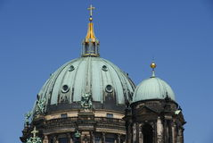 Copula of church in Berlin. Under blue sky Royalty Free Stock Photo