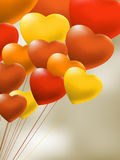 Copula of red gel balloons of a heart. EPS 8 Royalty Free Stock Photography