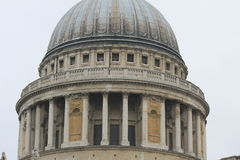 Copula of Saint Paul's Cathedral in London, the United Kingdom Stock Photos