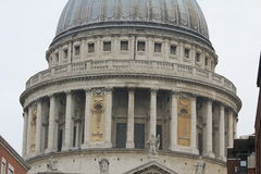 Copula of Saint Paul's Cathedral in London, the United Kingdom Stock Photography