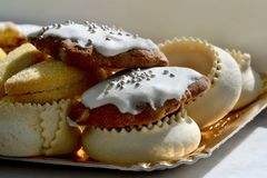 Copulettas, traditional dessert of Sardinia. In Italy Stock Images