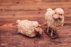 Copuple des moutons de paille Photographie stock