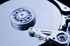Coputer hard disk close up detail Royalty Free Stock Images