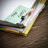 Copy All; The Pile of Business Documents on the Desk.  Royalty Free Stock Photos