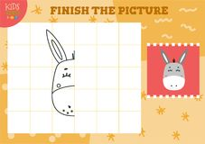 Free Copy And Complete The Picture Vector Blank Game, Illustration Royalty Free Stock Image - 124312886