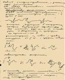 Copy-book viejo de la paginación Imagen de archivo