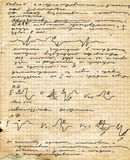 Copy-book viejo de la paginación Fotografía de archivo