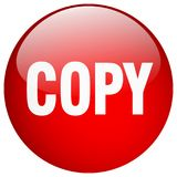 Copy button. Copy round button isolated on white background. copy royalty free illustration