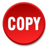 Copy button. Copy round button isolated on white background. copy vector illustration