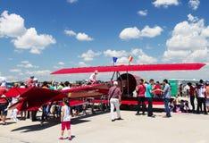 Copy of Coanda airplane at romanian air show BIAS  Royalty Free Stock Photos