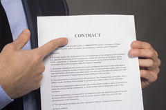 Copy of a contract Royalty Free Stock Photo