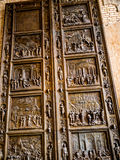 Copy of the Doors to the Baptistery in Florence in Museum In Berlin Germany Stock Photos