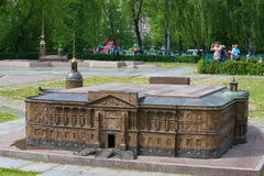 A copy of the Engineer's castle, established in the territory of the Mini-city. Saint Petersburg Stock Photography