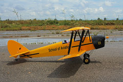 A copy of the English model Tiger moth plane Royalty Free Stock Images
