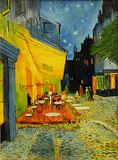 Van Gogh Cafe at night Painting. Copy of famous Van Gogh Cafe at night painting royalty free stock image