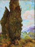 Van Gogh tree Painting. Copy of famous Van Gogh tree painting stock images