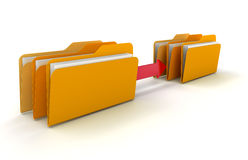Copy folders and files. Colored folders and files rendered in 3D Stock Photography