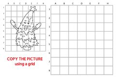 Copy grid picture christmas tree Royalty Free Stock Image
