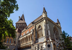 Copy of historical castle in Budapest, Hungary. Stock Photo